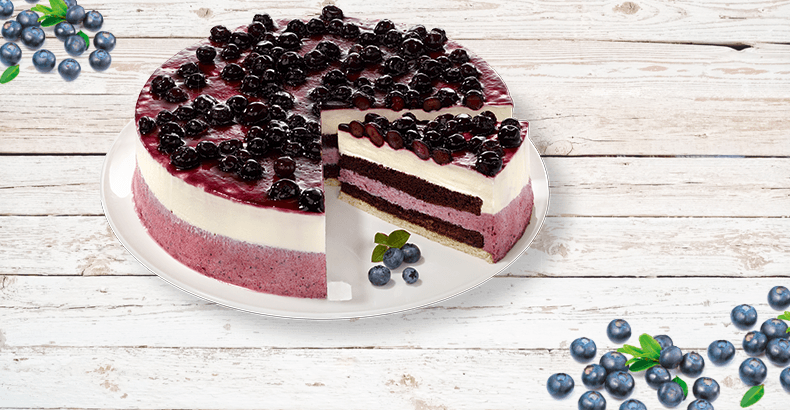 """Panna-Cotta"" Blueberry Gateau - Fruity temptation!"