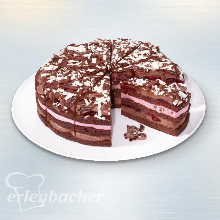 Erlenbacher Schoko Kirsch Torte