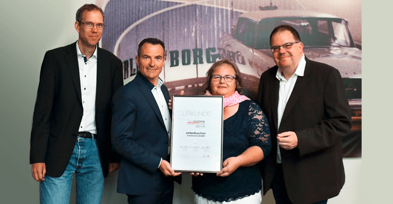 """Production of the year 2019"" - Backtechnick Europe awarded erlenbacher"